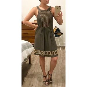 NWT BCBG MAXAZRIA Olive Halter Beaded Sheath Dress